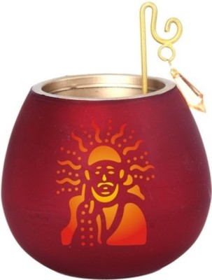 Footista Om Sai Ram Glass 10 - Cup Tealight Holder Set