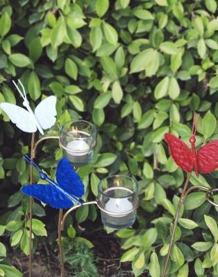 Orange Tree INSTZ GARDEN butterfly set of 3 Iron 3 - Cup Tealight Holder Set