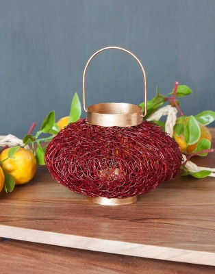 Orange Tree Marky wire red Iron 1 - Cup Tealight Holder