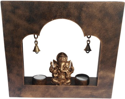 Saugat Traders Wooden 2 - Cup Tealight Holder Set
