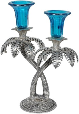 Anmol Palm Tree Aluminium 2 - Cup Candle Holder