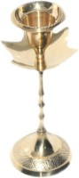Sarvsiddhi Designer Candle Stand Brass Candle Holder(Gold, Pack of 1)