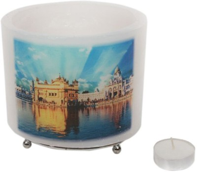 Technomart Gurdwara Candle Holder Steel 1 - Cup Tealight Holder Set