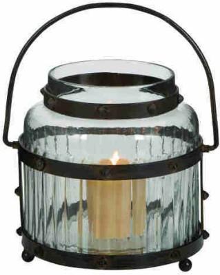 Kala Bhawan Iron, Glass Candle Holder