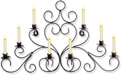 Home Sparkle Wall Scone Iron Candle Holder