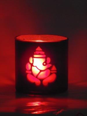 Shagun For You Ganesha Borosilicate Glass 1 - Cup Tealight Holder