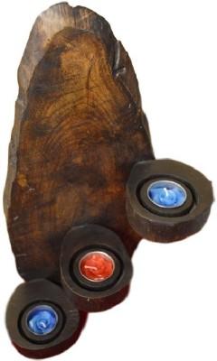 POOJA GHAR Wooden Tealight Holder Set