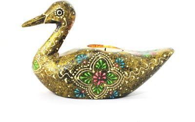 Raja Arts Handicrafted Duck Wooden Tealight Holder Set