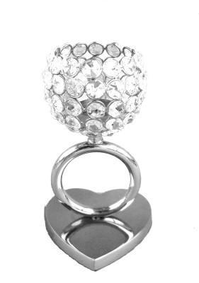 Metallic Kreationz Aluminium, Crystal, Steel 1 - Cup Tealight Holder