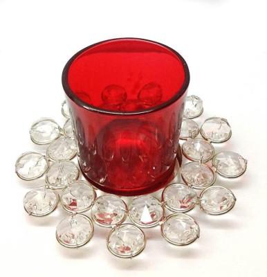 Reverence Glass, Iron, Crystal Tealight Holder Set