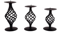 Indigo Creatives Iron Tealight Holder(Black)