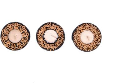 Home Essentials Vitro Triple Candle Ceramic 3 - Cup Tealight Holder