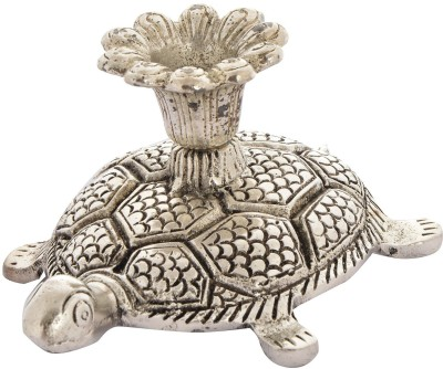 Shresth Lifestyles Metal Tortoise Cast Iron 1 - Cup Candle Holder