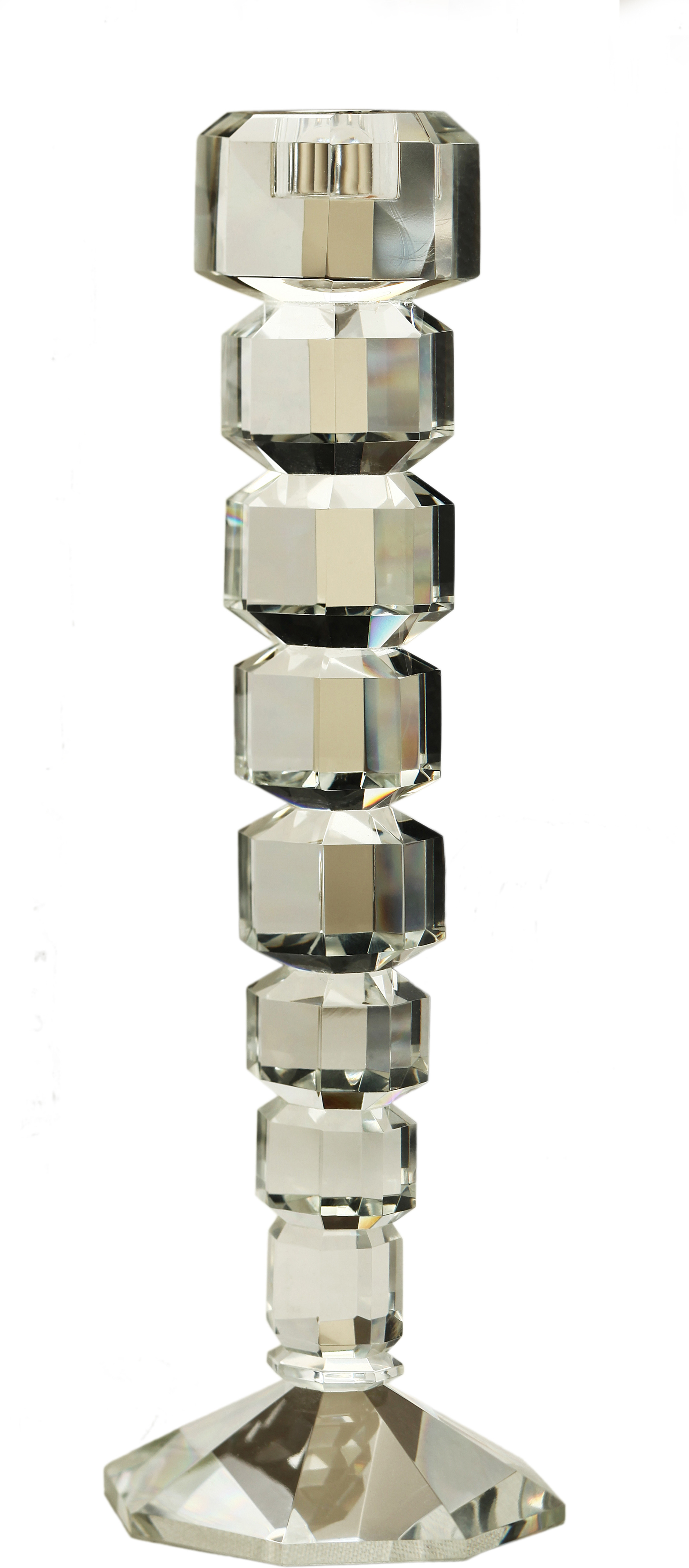 Foyer Crystal Candle Holder(Gold, Silver, Pack of 1)