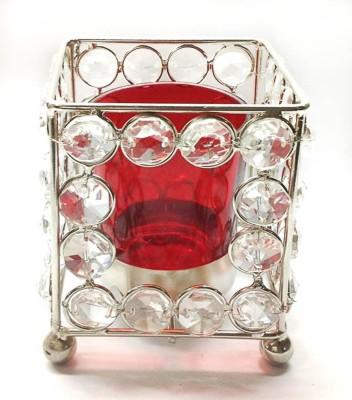 Reverence Crystal, Iron, Glass Tealight Holder