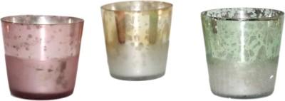 SDJV RETAILERS Glass Tealight Holder Set