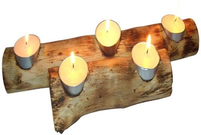 Nafees Nature,S Melody Wooden Tealight Holder