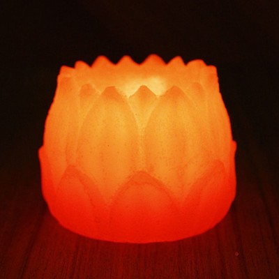 Ekolhapuri Plastic Tealight Holder Set(Orange, Pack of 1)