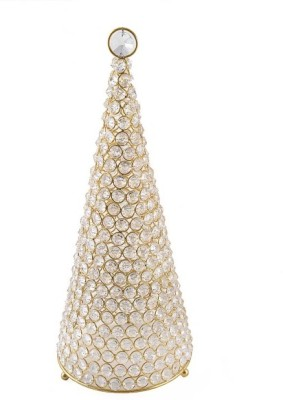 Inspiration World Gold Christmas Tree Gold Plated, Iron Candle Holder