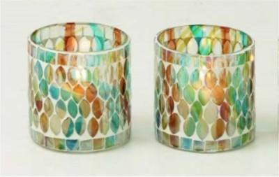 Kala Bhawan Votive Tealight holder Jaali (Set of 2) Glass 2 - Cup Tealight Holder Set