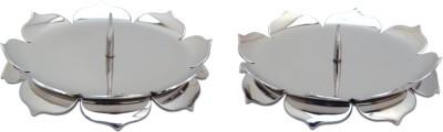 NAMO Padma Steel 2 - Cup Candle Holder Set