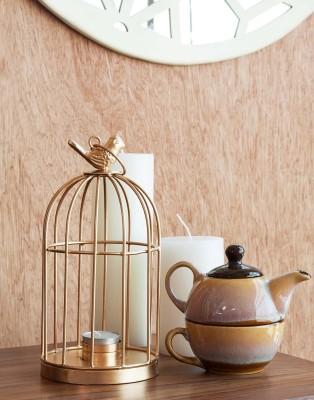 Orange Tree CAGEGold Iron 1 - Cup Tealight Holder