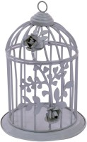 brown village Bird cage Steel 1 - Cup Tealight Holder(Silver, Pack of 1)