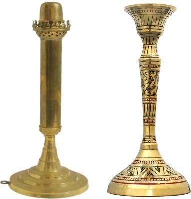Shree Sai Handicraft Combo Gift Brass Candle Holder