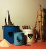 Logam Love Tea Light Holders & Pen Stand...