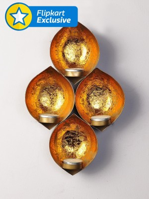 Being Nawab Glorious Alcoves Iron 4 - Cup Tealight Holder