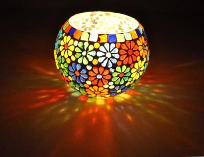 Lal Haveli Beautiful Morocan Light Planter, Pan Stand Glass Tealight Holder