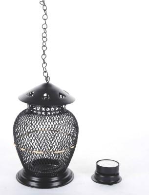 good living Metal Lantern, Standing Hanging tea light Iron 2 - Cup Tealight Holder Set