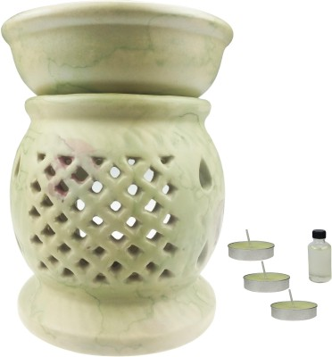 ANNI CREATIONS Candle Insence Bone China 3 - Cup Tealight Holder Set