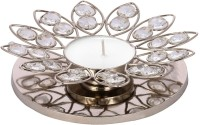 Tied Ribbons Beautiful Crystal Crystal 1 - Cup Tealight Holder Set(Silver, Pack of 1)