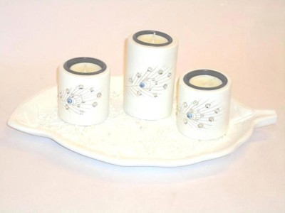 Eventz Gifts Wooden 4 - Cup Tealight Holder Set