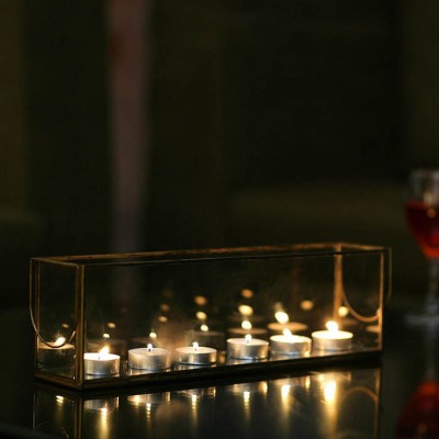 Decor Mill Box Glass Tealight Holder