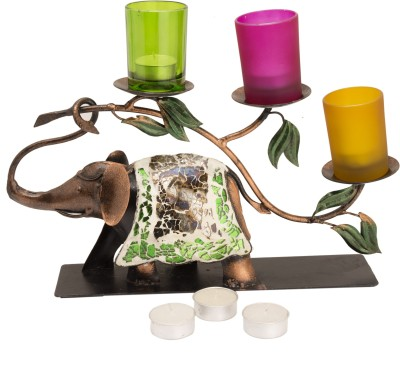 Narbman Royal Elephant Iron 3 - Cup Tealight Holder Set