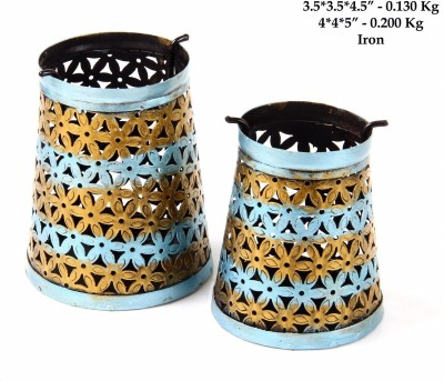 HandyMandyCrafts Iron 2 - Cup Candle Holder
