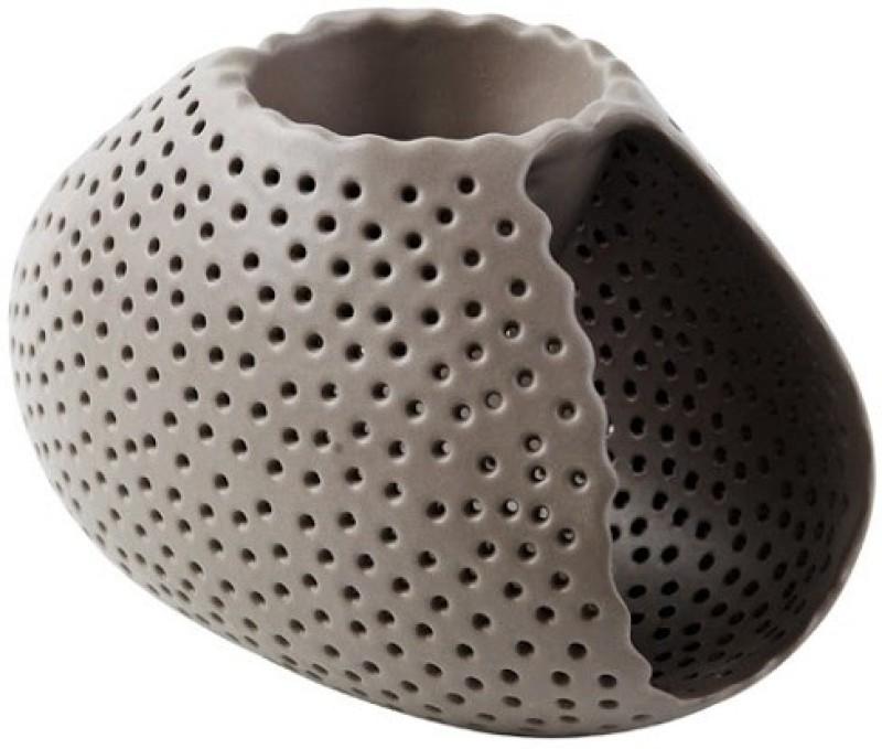 Foyer Ceramic Tealight Holder(Brown, Pack of 1)