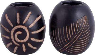 Craft Art India Wooden Candle Holder Set