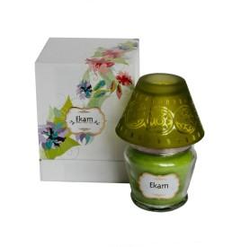 Ekam Lemongrass Lampshade Candle(Green, Pack of 1)