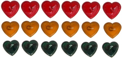 Rasmy Candles Heart Shape Gel pac of 18 Candle