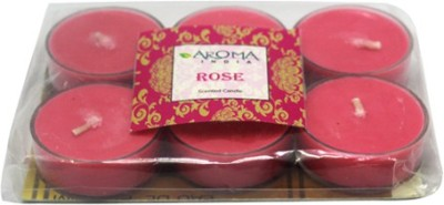 Aroma India Scented Polycarbonate Tea Light Set (6pcs) Candle