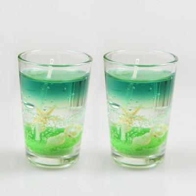 PeepalComm Glass Gel Set Candle