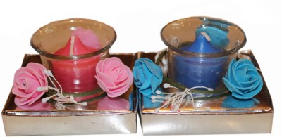 Fragrance Concoction Pack of strawberry and oceanic fragrance votive Candle