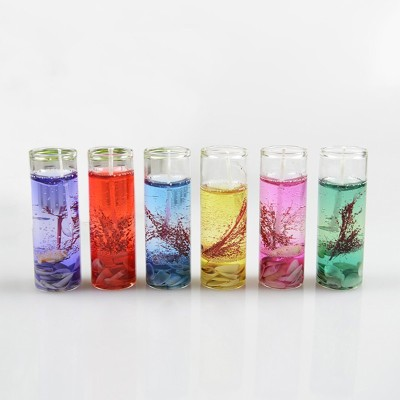 Bemoree 6pcs! 2.5*8 cm New Fragrances Shell ocean jelly small transparent Candle(Multicolor, Pack of 6)