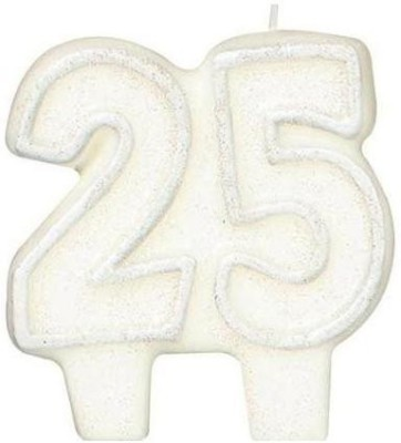 Amscan International Candle Birthday # 25 With Gliter Candle