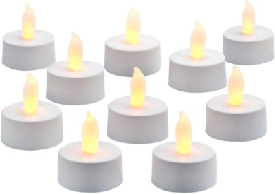 DIZIONARIO LED Flickring Tea Light Candle Yellow Set of 10 Candle