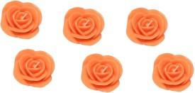 FUZONE rose Candle(Orange, Pack of 6)