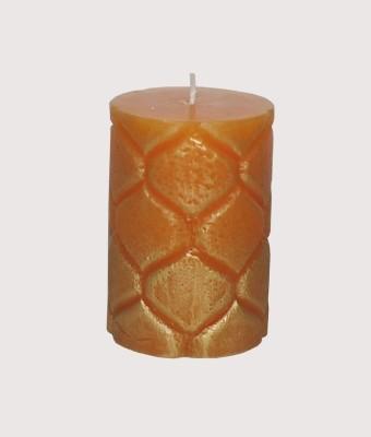 GGI Designer Embossed Pillar Candle Orange 2.75 x 4 Candle